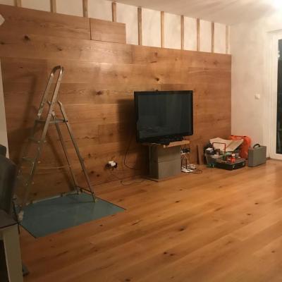 dokončovanie drevenej steny